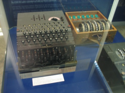 Enigma machine at the Deutsches Museum, Munich